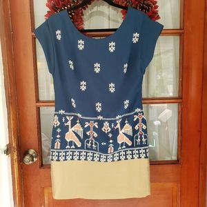 Anthro | Floreat Avian Myth Sheath Dress Sz 2